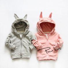 8d16a3214 2016 nuevo Otoño y primavera Los Niños del conejo de dibujos animados  prendas de Vestir Exteriores
