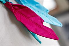 fabric feather tutorial (for all those robin hood or peter pan hats!)