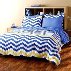 City Scene Zig Zag Bed in a Bag with Sheet Set Kohls Bedding Sets, Twin Xl Bedding, Comforter Sets, Blue Bedding, Dorm Bedding, Chevron Bedding, Cheap Bed Sheets, Bed In A Bag, City Scene