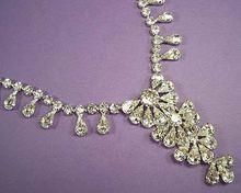 Regal Vintage Cascading Rhinestone Necklace..........Fabulous!