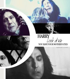 """Take…it…Take…it…""    Something more than blood was leaking from Snape. Silvery blue, neither gas nor liquid, it gushed form his mouth and his ears and his eyes, and Harry knew what it was, but did not know what to do— A flask, conjured from thin air, was thrust into his shaking hand by Hermione. Harry lifted the silvery substance into it with his wand. When the flask was full to the brim, and Snape looked as though there was no blood left in him, his grip on Harry's robes slackened…"