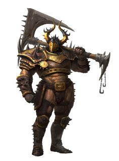 Massive Greataxe Human Fighter Barbarian - Pathfinder PFRPG DND D&D d20 fantasy