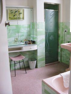 Pink And Green Bathroom Avocado Suite 50s Retro Bathrooms Laundry Room