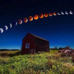 Repost @InsprMe #InsprMe  Super Blood Moon Eclipse Sequence Over Shack In Maine USA  Credit: Taylor Photography http://ift.tt/19QzxOy  #InsprMe #Inspire #Inspiration #SuperBloodMoon #LunarEclipse #BloodMoon #Moon #Cosmos #Space #Stars #USA #Maine #Environment #Nature #Peace #Astronomy #Nasa #Eclipse #Photooftheday by tyroneloomis