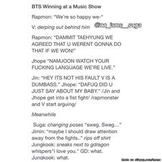 BTS | Bangtan | Winning at a music show? I can see this happening...