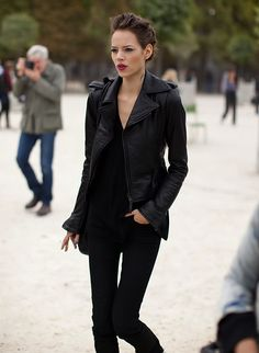 skinny jeans, black, chic, winter, autumn, rock chic, simple,