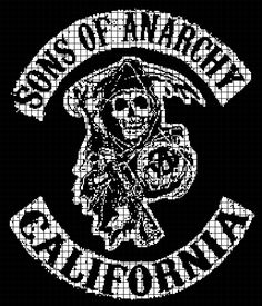Sons of Anarchy Crochet Graphghan Pattern (Chart/Graph AND Row-by-Row Written Instructions) — YarnLoveAffair.com
