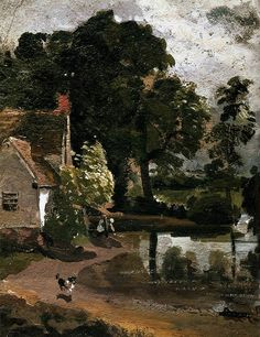 Constable, John (1776-1837) - 1810c. Willy Lot's House (Victoria and Albert Museum, London)
