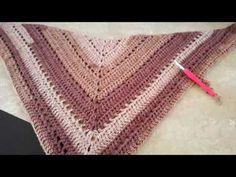 Crochet Poncho Patterns, Crochet Shawl, Knit Crochet, Sewing Stitches, Crochet Stitches, Clock Printable, Crochet Carpet, Crochet Videos, Crochet Projects