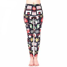 f14277cc81041 Gift For Women Leggings New Arrival Autumn Fitness Legging Harajuku Xmas  Style Christmas Legins Workout Mujer Pencil Pants
