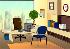 office cartoon background clipart counsel freelancer illustration legal enter indoor graphic leave concept
