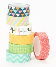 Spring Fling Washi Tape Set by Two Berry Creative #zulily #zulilyfinds