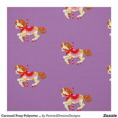 """Carousel Pony Polyester Weave (58"""" width) Fabric"""