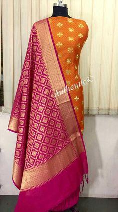 Banarsi tanchui jakard top  Pure Banarsi soft silk dupatta (2.5 mts approx) Heavy silk salwar (2.5 mts approx)