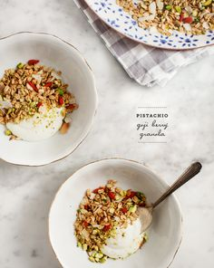 pistachio goji berry granola / @loveandlemons