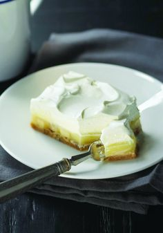 Triple-Layer Lemon Pie – Hello, sunshine. Three layers—fluffy, creamy and cool—come together to make this perfect no-bake pie!