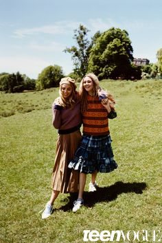 Suki and Imogen Waterhouse are basically two English roses in the countryside