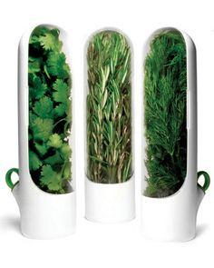 Estas vainas de protector de hierba mantienen hierbas verdes y frescas! Conseguirlos aquí: www.bhg.com / ...
