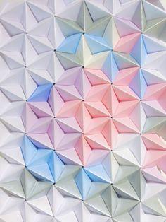 Sonobe unit wall art by Coco Sato http://cocosato.co.uk