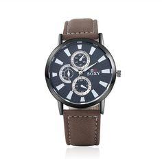 Men's Watches Enthusiastic Fashion Men Watches Date Alloy Case Synthetic Leather Analog Quartz Sport Watch Relogio Masculino Orologio Uomo Bayan Kol Saati Quartz Watches