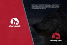 Okami Pack. Logo design for a survival kit.