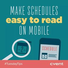 On Tuesdays we're sharing tips on everything from venue selection to event follow-up! Today's Tip >> We live in a digital, phone-obsessed world. Make it easy for attendees to view schedules, maps and event content on mobile. Not only will it save paper, but updates can be made easily and in real-time. If you found this tip helpful, share with your network! #TuesdayTips