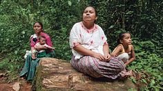 Rosa Eblira Coc Inh, one of the plaintiffs, near their new settlement of Lote Ocho. Photographer Roger LeMoyne's project in Lote 8 in Guatemala 'Mining for the truth in Guatemala' photo 4, May 2014 (Maclean's magazine)