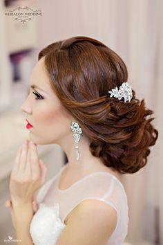 beautiful low bridal updo  ~  we ❤ this! moncheribridals.com