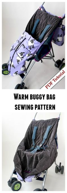 Warm buggy bag sewing pattern. How about making this warm and cozy, soft inside, buggy bag.