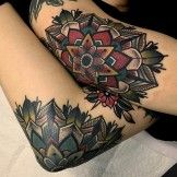 Great Mandalas Tattoo Design on Elbows