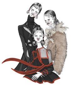 ISSA GRIMM fashion illustration