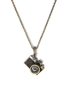 Look at this #zulilyfind! ZAD Antique Goldtone & Crystal Camera Pendant Necklace by ZAD #zulilyfinds