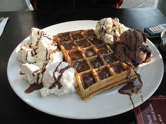 waffles and icecream