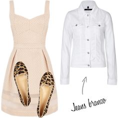 """""""Jeans branco"""" by gessilene-ferreira on Polyvore"""