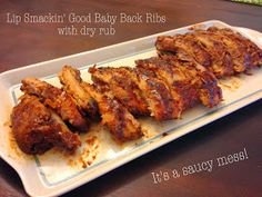 Cut the Wheat: Lip Smackin' Good Low Carb Barbecued Baby Back Ribs (with Dry Rub)