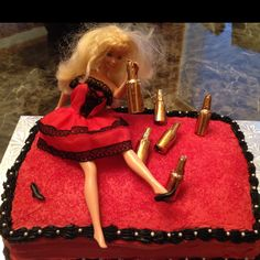 trashed / drunk barbie cake i recently made for my friends stagette! Drunk Barbie Cake, Barbie Party, Bridesmaid Duties, Party Central, Maid Of Honor, Party Party, Party Ideas, Bridal Shower, Victoria