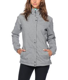 This snowboard jacket is cut with a flattering tailored fit, and is constructed with a durable water-resistant exterior and poly insulated fill so you will stay warm and dry.