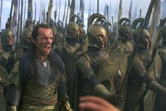 Elrond (Hugo Weaving) in The Lord of the Rings: The Fellowship of the Ring (2001 New Line Productions, Inc.)