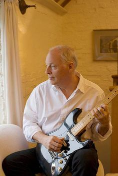 Portrait of singer and songwriter David Gilmour, England, United Kingdom, 2014, photograph by Harry Borden.
