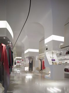 ♂ Commercial retail interior design Alexander McQueen store Los Angeles by Willian Russell