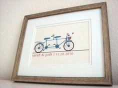 Wedding gift - tandem bike.