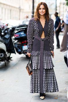 Street style à la Fashion Week haute couture de Paris Christina Centenera Haute Couture Paris, Haute Couture Fashion, Urban Fashion, Boho Fashion, Fashion Outfits, Lovely Dresses, Elegant Dresses, La Fashion Week, Style Couture