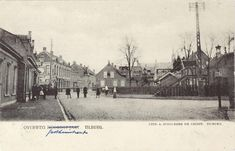 Gasthuisstraat, overweg, 1903, Overweg Gasthuisstraat - Noordstraat, vanaf zuidzijde, de huizen links vóór het spoor stonden aan de Noordstraat.