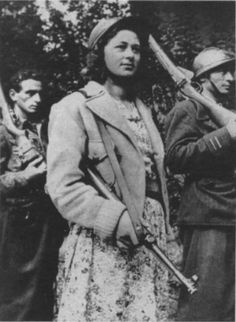"Ada Prospero Gobetti Leader in the Italian resistance in WWII, and co-founded the female group of partigiane, ""Gruppi di difesa della donna"". After the end of the war, the CLN made her vice-mayor of Turin. Mother Courage, French Resistance, French Castles, 1940s Woman, Female Soldier, Military Women, Military Equipment, Women In History, World War Two"