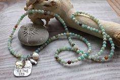 Beach Boho Kette *sense of basic trust*, Amazonit  von MermaidsJewellery auf DaWanda.com