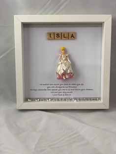 Disney Cinderella Frame-caring words- Princess Fans - engagement present- gift for the bride to be- gift for daughter Disney Gift, Disney Crafts, Homemade Gifts, Diy Gifts, Best Birthday Surprises, Box Frame Art, Cute Frames, Feather Crafts, Simple Gifts