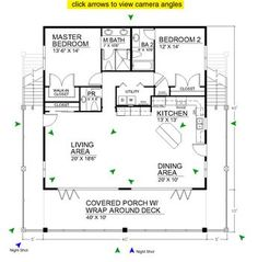 Spacious Open Floor Plan House Plans with the Cozy Interior : Small House Design. - Enne's Decor - Splendid Spacious Open Floor Plan House Plans with the Cozy Interior : Small House Design Open Floo - 2 Bedroom Floor Plans, Open Floor House Plans, Kitchen Floor Plans, Tiny House Plans, Small House Plans Under 1000 Sq Ft, Small Home Plans, Open House, Square Floor Plans, Small Cottage Plans
