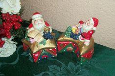 Two Santa Claus Celestial Star and Moon Trinket by Holiday365, $13.95 #Santa_Claus #Santa #Christmas