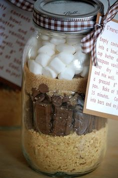 S'mores In A Jar--Cute gift idea!