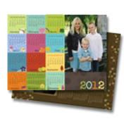 Personalized magnetic full year calendar. Great way to stay organized and show off a family photo.
